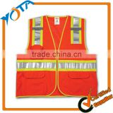 Reflective tape orange safety vest pocket