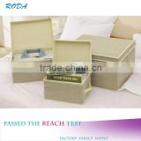 WBN-1: MuJia wholesale Cotton and linen storage box, Toys, underwear, clothes Storage,travelling box,containers cosmetics