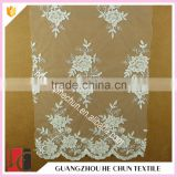 HC-6310-1 Hechun Free Samples Sequin French Chantilly Bridal Lace Fabric