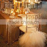 YHC#147 embroidery fancy organza skirt chair back cover-polyester banquet wedding chiavari chair back cover
