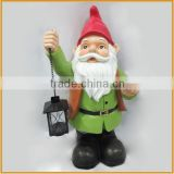direct factory outdoor resin elf garden statues with lantern decorative                                                                         Quality Choice