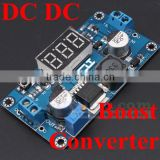 dc dc converter 12v to 24v 36v 48v voltage regulator step up power adjustable module with voltmeter