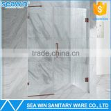Modern Custom standard complete used portable frameless pivot hinge 10mm tempered glass shower door                                                                         Quality Choice
