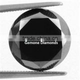 Natural Loose Black Diamond In Round Briliant Cut