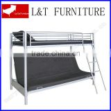 T/futon metal black bunk bed