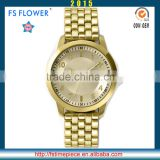 FS FLOWER - Mens Stainless Steel Quartz Goldlis Watch