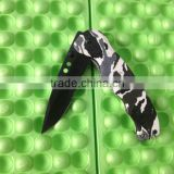 OEM 440 steel Camo handle folding knife in stock