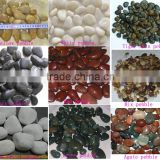 Polished white pebble stone river stone for park