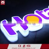 Green Food Store Sign Package: Acrylic LED channel letter vacuum formed LED logo Double sided light box