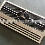 Front grille for Mercedes benz G -Class G63 G65 G500 G32 G55 AMG look silver grill