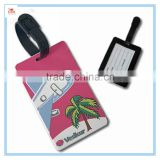 Leather strap PVC luggage tags, funny leather strap PVC baggage tags, leather strap PVC bag tags