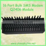 Promotion!! With Q2406 module, low cost 16 port gsm modem/ bulk sms sender