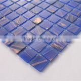 MB SMH01 Cheap Decorative Bedroom Tile Blue Mosaic Wall Tile Gold Star Glass Mosaic Tile
