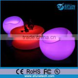 pe material led glowing rgb colors lounge sofa chair,illuminated bar egg shape fancy stool