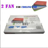 Tablet pc cooling pad with 4 / 2 FAN 1 USB ports cooling pad blue cooling pad portable smart