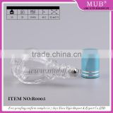 10ml special design round shaped clear roll on bottle glass perfume bottle with roller ball and aluminum cap