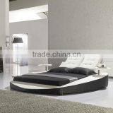 Hot selling soft modern leather bed with speaker