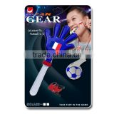 2016 Euro Cup fans plastic cheering handclapper and whistle set/ sports fan gears /soccer fans noise maker kit