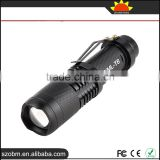 Hot sales Tactical flashlight ,XM-L T6 1000 lm Led flashlight ,Zoomable Flashlight