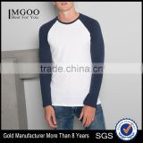 MGOO Customized T-shirt With Shoulder Sleeves Plain Long Sleeve Tshirt Soft Cotton Blank Tee Shirt For Men