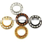 5 colors 22mm big round metal brass rhinestone eyelets crystal diamond grommets glass eyelets RE-22mm