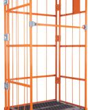 Collapsible Wire Mesh Container / Rolling Metal Storage Cage