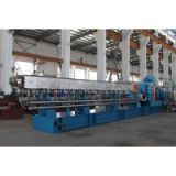 High torque 600rpm corotating parallel twin screw extruder plastic compounding pelletizing machine