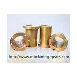 Polishing Precision Machined Components Brass / Copper Alloys Sleeve Maintenance - Free