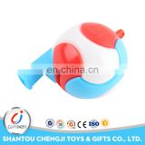 Cheap big bulk sports toys plastic colorful football whistle
