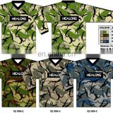 Sublimated Uniform Team Wear Top Custom Fishing Paintball Jersey