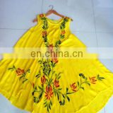 umbrella dress ladies dress round dress beach dress tie dye dress rayon wholesale dress india