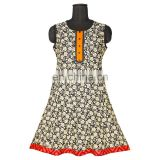 "INDIAN DESIGN SHORT ANARKALI PRINTED COTTON 3""INCHES GHER LATEST PATTERN"