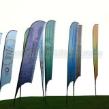 Feather flying banner