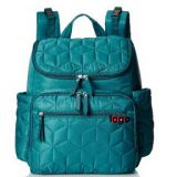 quilted polyester diaper backpack bag with pockets outside