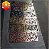 China Manufactory 304 316 stainless steel decorative dubai room divider screen for hotel lobby
