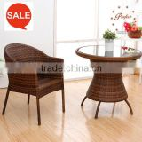 outdoor rattan beach chair or wicker beach lounge High Quality Restaurant Table SET ZG-142
