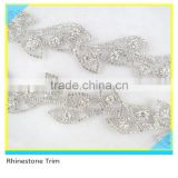 Pretty Bridal Embellishment 888 Crystal Rhinestone Beads Trimming For Dress