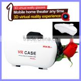 Bluetooth Wireless Glasses VR Case 3D Glasses Google Cardboard HD VR Glasses + Game Controller