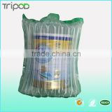 SGS verified transparent shockproof protective air packaging material air bag for milk powder can transportation