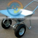 twin wheel wheelbarrow, two wheel heavy duty wheelbarrow