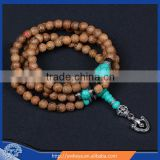 8mm Wenge Wood Prayer Beads, wood mala bead necklace ,108 beads japa mala