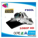 Car DVR Vehicle Camera Blackbox Full HD 1080P 2.5'' LCD F900 Recorder FL Night Vision Camcorder HDMI