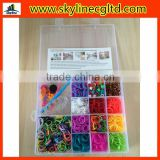 Silicone TPR loom bands for refills pack with beads/loom crochet/hook/clips