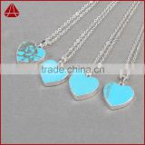 New Arrival Turkey Turquoise Heart Pendant Necklace Chian 18K Gold Plated Fashion Jewelry For Women Lover's Great Gifts