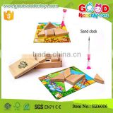 Stocked Beechwood Tangram Puzzle Wooden Classic Toy for baby with guide books