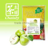 Taiwan Bubble Tea Materials Green Apple Instant Drink Fruit Flavored Powder