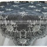 luxury dinning beaded table cloths machine embroidery sequins table cover