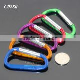 74MM D Shape Clip Bottle Hook Buckle Hanging Camping Hiking Metal Mini Aluminum Carabiner