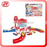 High quality plastic track toy car garage