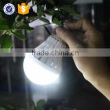 PC Cover Material Multi-function Rechargeable Energy Saving Bulb 5W E27 With Optional AC DC Input Voltage